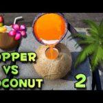 Flüssiges Kupfer VS Kokosnuss