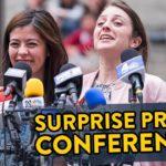 Überraschung: Pressekonferenz!